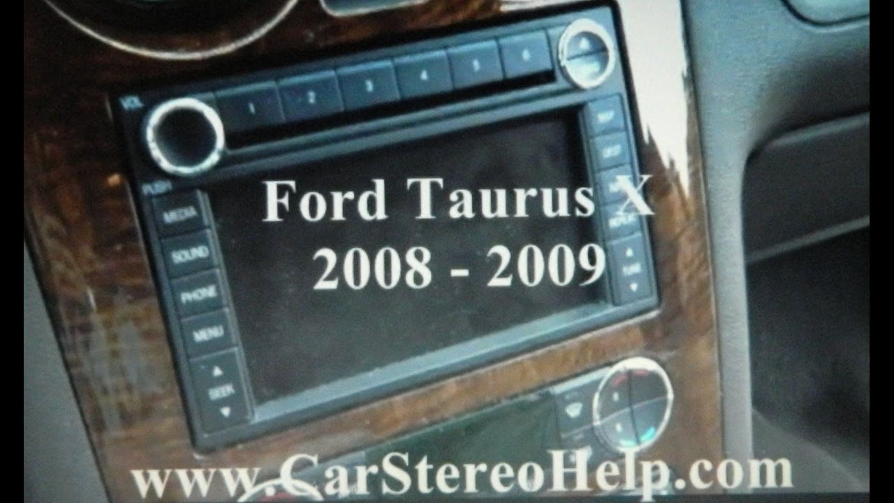 hight resolution of car stereo removal ford taurus x