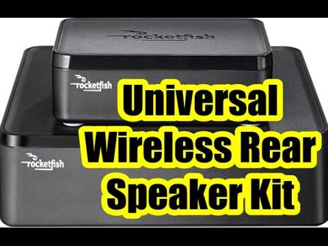 UNIVERSAL WIRELESS REAR SPEAKER KIT- ROCKETFISH