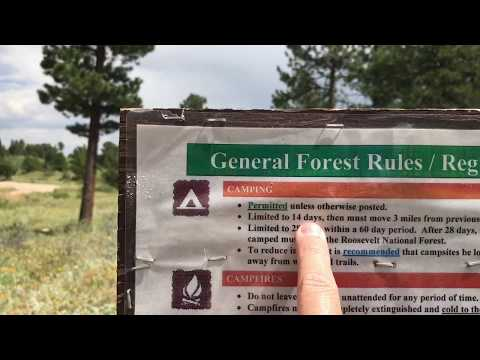 STAY LIMITS / RULES : Roosevelt National Forest CO 2017