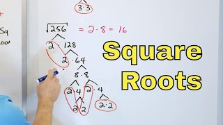 01 - Simplify Sqขare Roots with Factor Trees in Algebra (Radical Expressions), Part 1