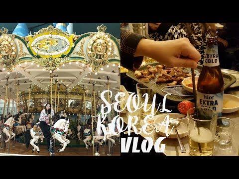 SEOUL KOREA VLOG   LOTTEWORLD, KOREAN BBQ   CHARIS BEAUTIFUL JOURNEY DAY 2