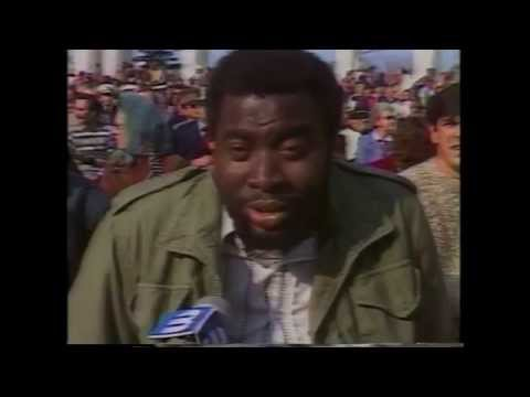 John Randt Eyewitness News 3 - Vietnam Veterans Memorial - 1982