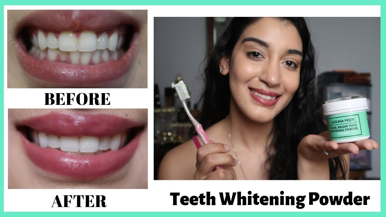 Whitening My Teeth For 7 Days Laguna Moon Teeth Whitening Powder Youtube