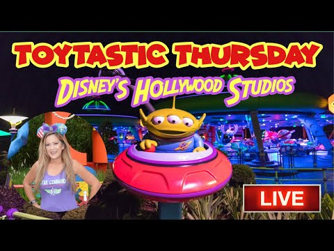🔴LIVE. Toytastic Thursday. Disney's Hollywood Studios. Alien Swirling Saucers. Fantasmic.