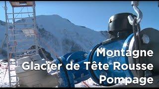 Poche d'eau du glacier de Tête Rousse Saint-Gervais Mont-Blanc pompage - 8553
