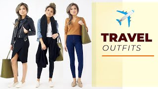 TRAVEL OUTFITS 2019 | Travel outfit ideas lookbook comfy airport outfits | Miss Louie