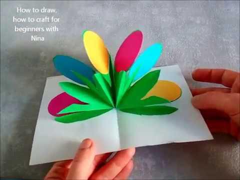 Diy 3d tarjeta de pascua manualidades para primavera - Manualidades para hacer tarjetas ...