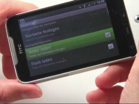HTC Legend Test Internet