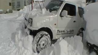 ジムニー大雪からの脱出
