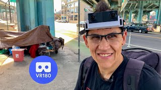 Homeless Disabled Firefighter Helping Homeless People in San Francisco VR180