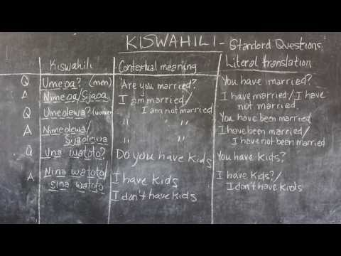 Video #5 - GO! presents: BEST Swahili Tutorials - STANDARD QUESTIONS Part 2 (live from Tanzania)