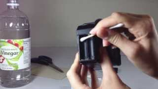 Cleaning Battery Corrosion from a Camera