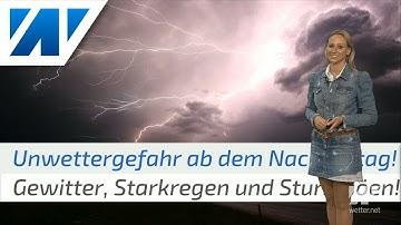 Unwetterwarnung! Kräftige Gewitter mit Starkregen erreichen den Südwesten! (Mod.: Kathy Schrey)