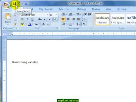 Word2007 DT001 NewSave