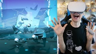 MARBLE MADNESS INSIDE THE RABBIT HOLE   Smash Hit VR (Oculus Go Gameplay)