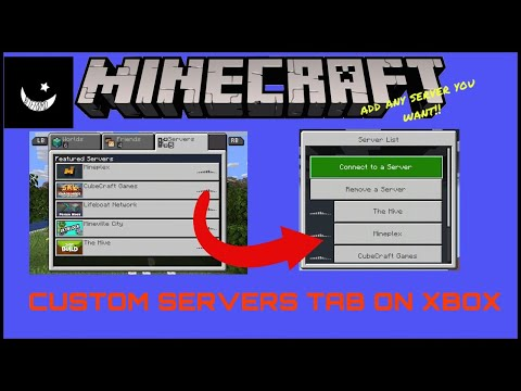 How to Add Custom Servers on MineCraft XBOX ONE (BedRock) YouTube