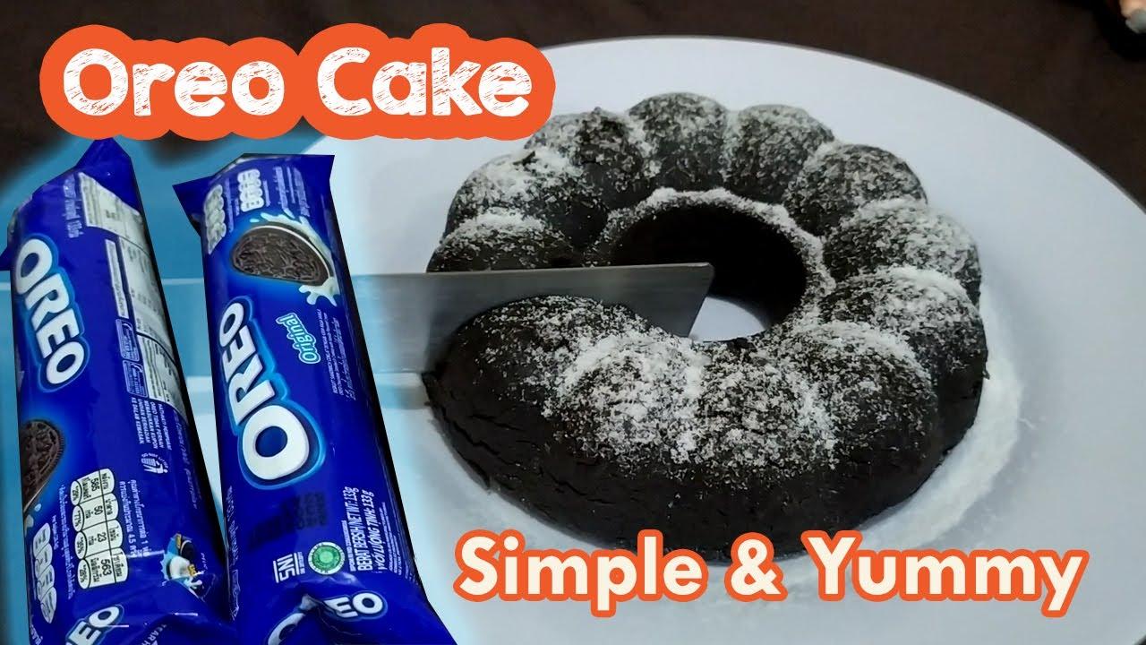 CARA MEMBUAT BOLU OREO KUKUS 2 BAHAN | RESEP OREO CAKE ...