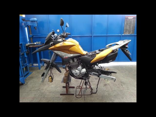 LR Motos - Balanceamento de Roda Traseira da Honda XRE 300 Dourada - 4869