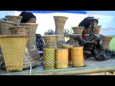 Mizoram cane and bamboo handicraft items for sale