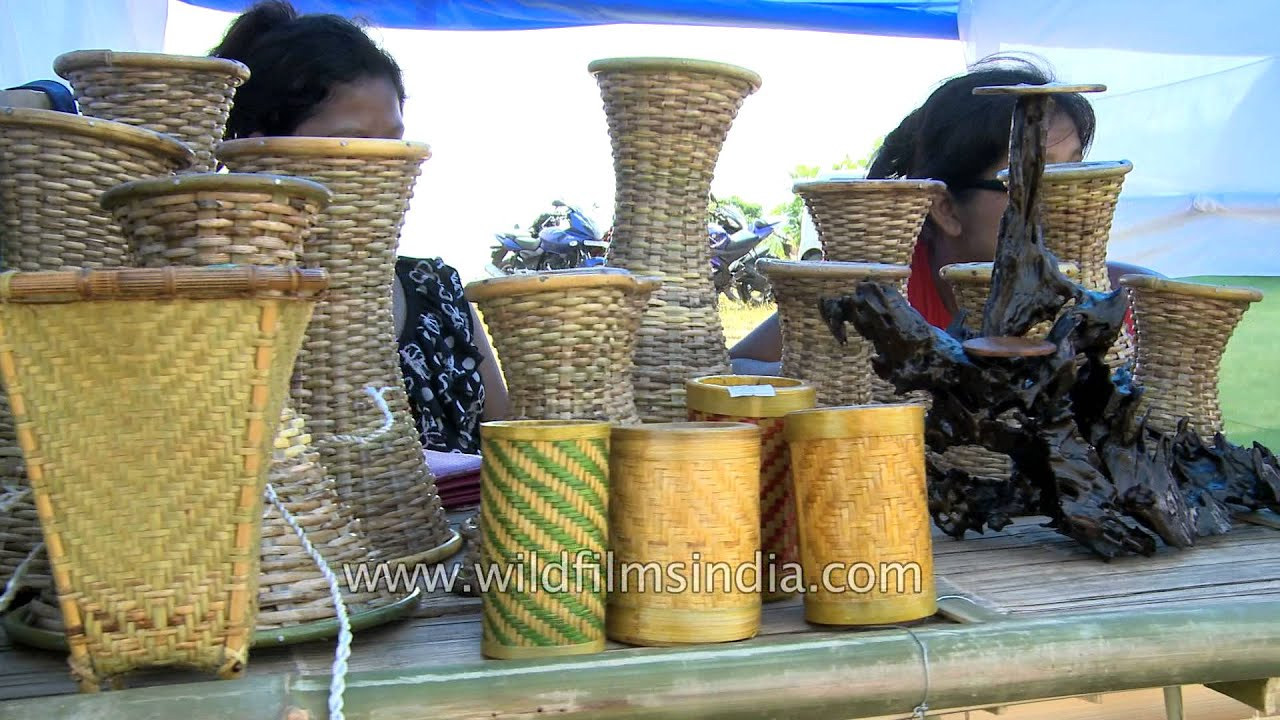 mizoram cane and bamboo handicraft items for sale youtube