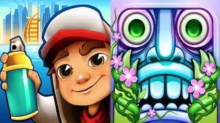 iGameBox🤩Subway Surfers DUBAI Vs Temple Run 2 HD Fullscreen*Gameplay For Kid#2