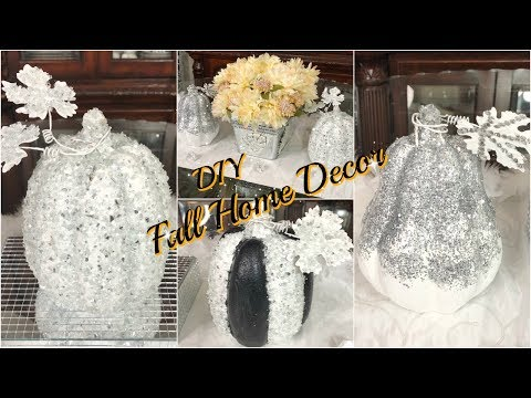 DOLLAR STORE DIY FALL DECOR 2019 | GLAM HOME DECORATING PROJECT  IDEAS