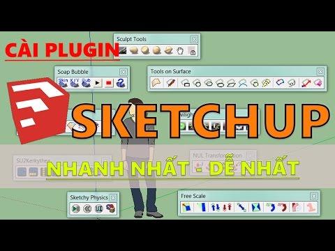 Cách cài plugin dành cho SketchUp 2015 2016 nhanh nhất