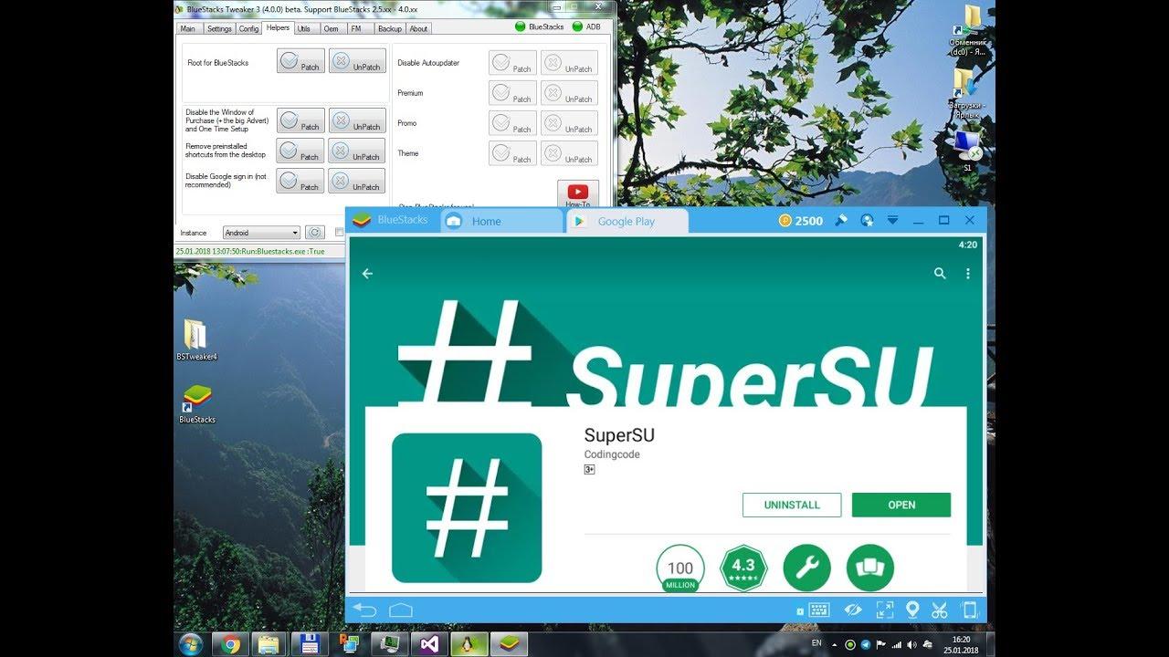 BSTweaker 4  How to Root BlueStacks 4 with BSTweaker 4 and SuperSU 2 82