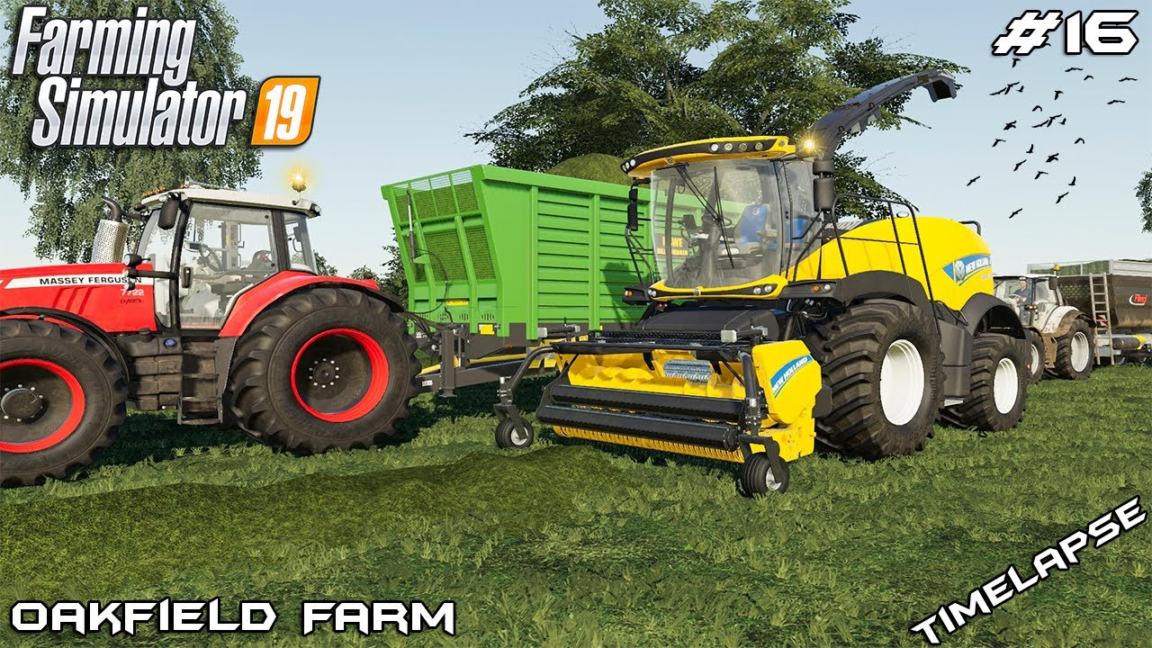 Grass silage with New Holland | Animals on Oakfield Farm | Farming  Simulator 19 | Episode 16