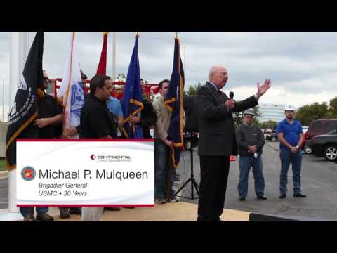 Continental Electric Construction Company Flag Ceremony clips