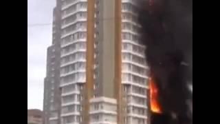Пожар В Красноярске 21.09.2014