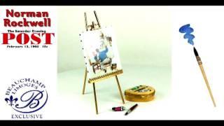 "Norman Rockwell ""Triple Self-Portrait"" Ltd. Ed. Collectible Limoges Box Set"