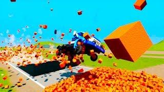Lego Broken Brick against Cars   Brick Rigs