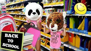 SHOPPING FOR SCHOOL SUPPLIES at Justice Target & Walmart - HUGE Back to School Supplies Haul 2017