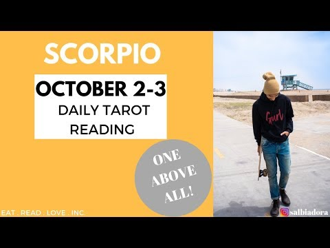 scorpio tarot reading october