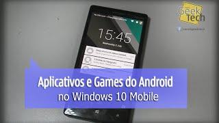 Aplicativos Android Rodando No Windows 10 Mobile - Clash Of Clans, Nubank E +