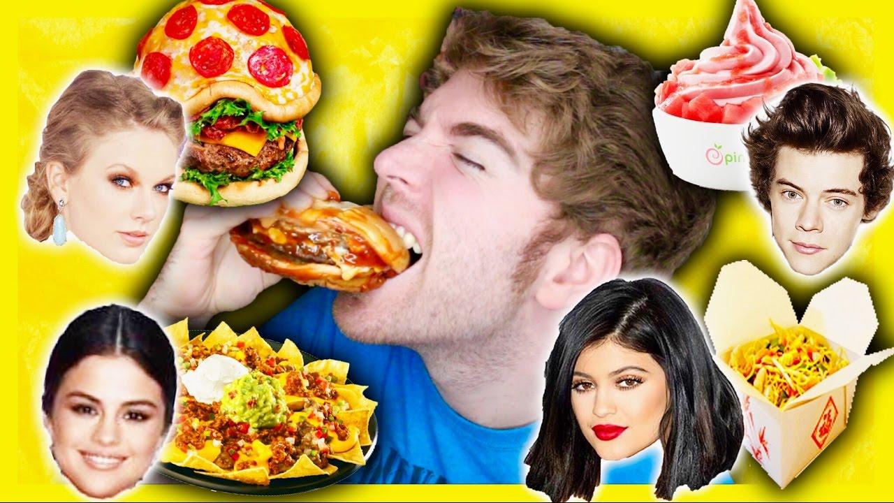 TASTING CELEBRITIES FAVORITE FOODS - YouTube