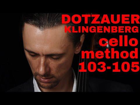 Dotzauer-Klingenberg Cello Method 103 - 105