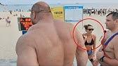Весь пляж офигел от русского гиганта!