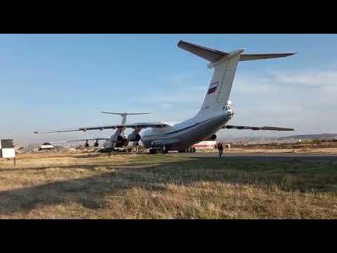 Прибытие российских миротворческих сил в Армению для урегулирования конфликта в Нагорном Карабахе