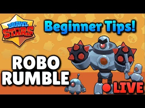 ROBO RUMBLE! Beginner Tips and Strategy for Max Coins - Brawl Stars Livestream!
