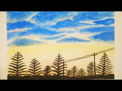 Step by step landscape painting for beginners | watercolor painting | painting tutorial | Day 1