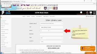 INTERLIBRARY LOAN (ILL) - UiTM LIBRARY GUIDE