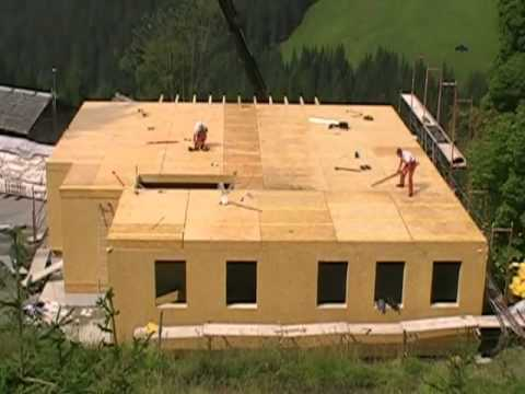 Holz Haus Construction Fertighaus Montage Holzrahmenbau Youtube
