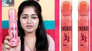 #PERFUME REVIEW ENGAGE BLUSH 24 HRS BODYLICIOUS DEO SPRAY ITC