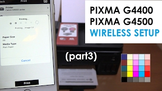 PIXMA G4410 G4400 G4510 G4500 (part3) - Wireless Setup