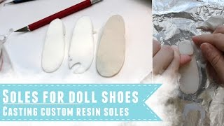 Creating soles for custom BJD shoes