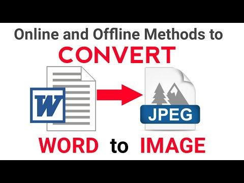 How To Convert Word File To JPEG/ Image File  [Hindi]
