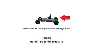 How to make a monster truck contraption. Roblox // Build a boat for treasure