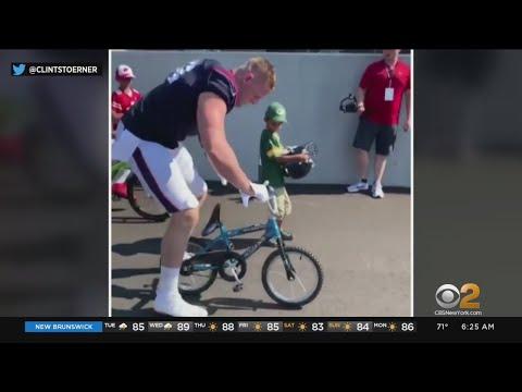 Cledus T. Party with Judy & Cledus - J.J. Watt Breaks a Kids Bike